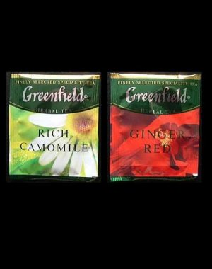 GREENFIELD TEA  RICH CAMOMILE AND GINGER RED HERBAL TEA