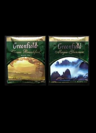 GREENFIELD TEA CLASSIC BREAKFAST AND MAGIC YUNNAN BLACK TEA