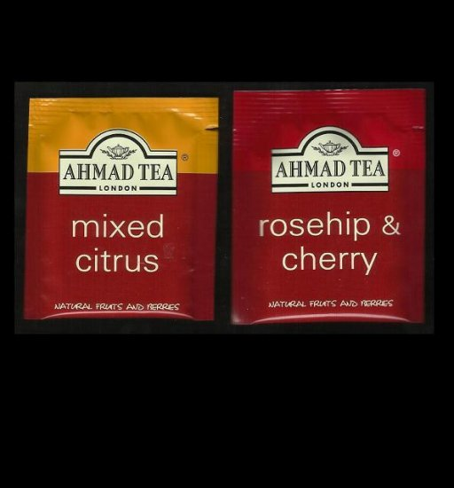 AHMAD LONDON TEA MIXED CITRUS and ROSEHIP & CHERRY FRUIT TEA