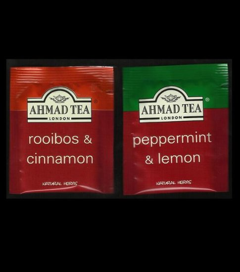 AHMAD LONDON TEA ROOIBOS & CINNAMON and PEPPERMINT & LEMON NATURAL HERBAL TEA