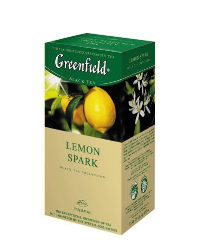 GREENFIELD TEA LEMON SPARK BLACK TEA