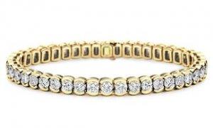 14k Tri-Color Gold Heart Bracelet