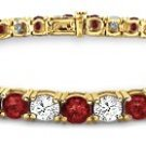 18k Gold Diamond and Ruby Tennis Bracelet (3 ct. tw.)