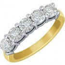 14k Gold Five-Stone Diamond Band (I/H-I, 1/3 ct. tw.)