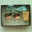 Radish Earrings with Cork Necklace Set (Harry Potter / Luna Lovegood)