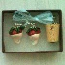 Radish Earrings with Cork Necklace Set (Harry Potter / Luna Lovegood)