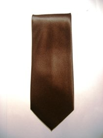 Solid Brown Tie