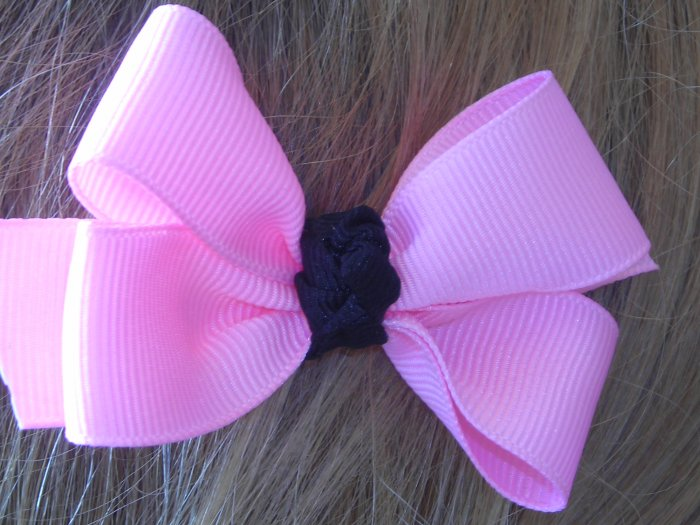 Pink toddler bow