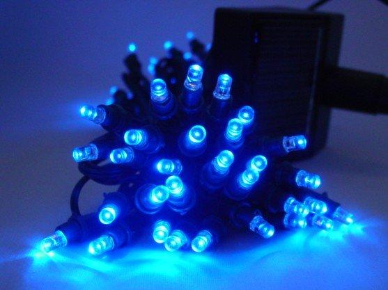 Christmas light---Solar Powered String Light 60 LED---BLUE