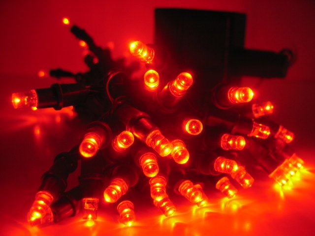 Christmas light---Solar Powered String Light 60 LED--- RED