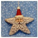 Santa Star Face - Ornament