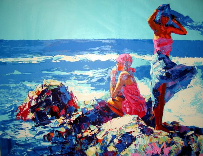 <strong>IONIAN</strong> by Nicola Simbari <br>(Serigraph - Acrylic on <strong>Canvas</strong>)