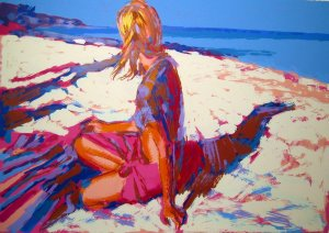 <strong>AEGEAN</strong> by Nicola Simbari <br>(Serigraph - Acrylic on Paper)
