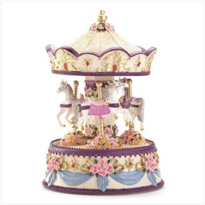 #36185 Floral Musical Merry-Go-Round