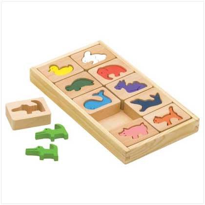 #38081 Wooden Animal Blocks