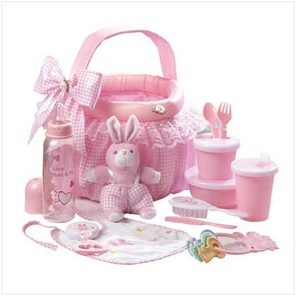 #36741 Pink Baby Soft Basket Set