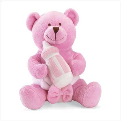 #37106 It's a Girl Message Bear