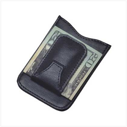 #36465 Leather Money Clip Wallet