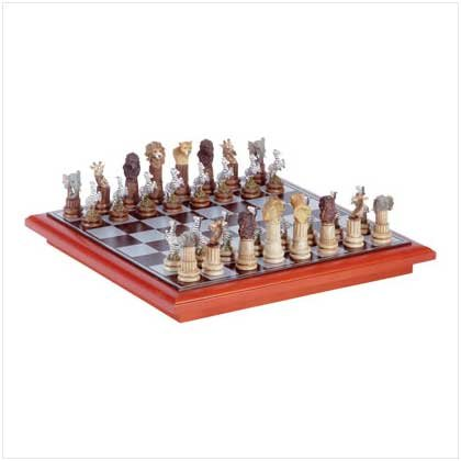 #32338 African Animal Chess Set