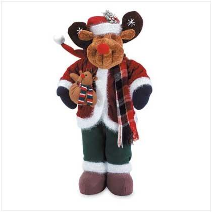 #33923 Posable Plush Rudolph