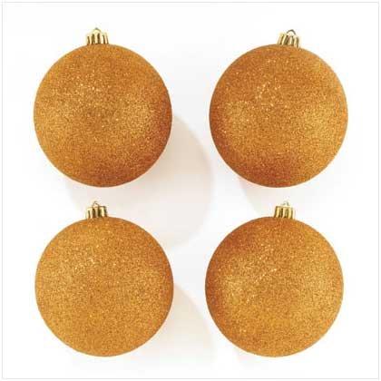 #37266 Gold Glitter Ornaments