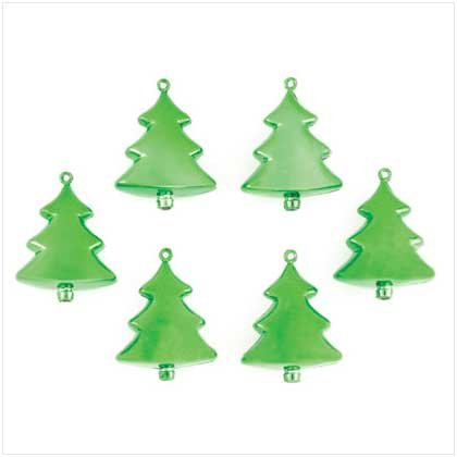 #37268 Green Christmas Tree Ornaments