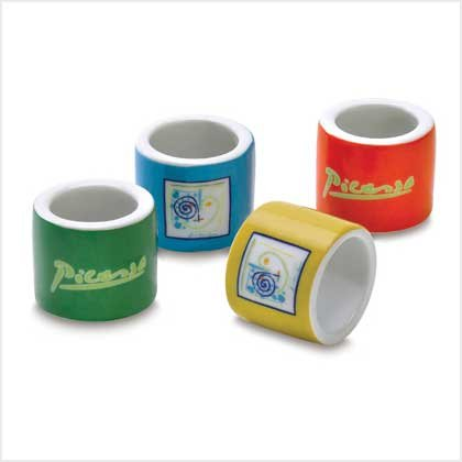 #38316 Napkin Rings - Picasso Lines - Set of 4