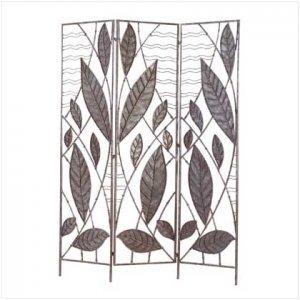 #35335 Bamboo Leaf Design Divider Screen