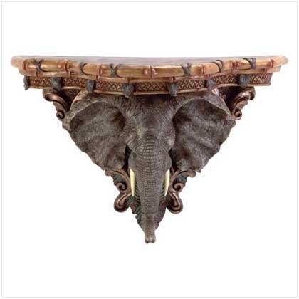 #33678 Elephant Wall Shelf