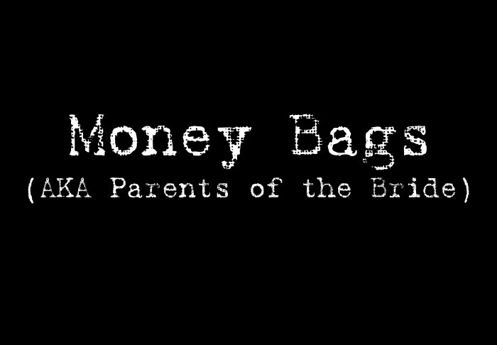 Money Bags (Parents of the Bride) - Style 1
