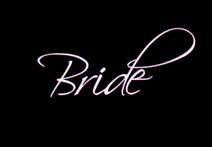 Bride - Style 4 (Pink Outline)
