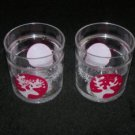 Reindeer Clear Tumbler 12 oz Cup- 2 piece set