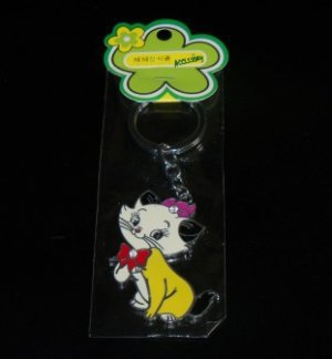 Disney Aristocats Marie Keychain- Yellow
