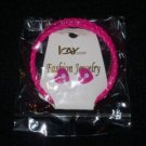 Icay Pink Heart Earrings & Bracelet Set