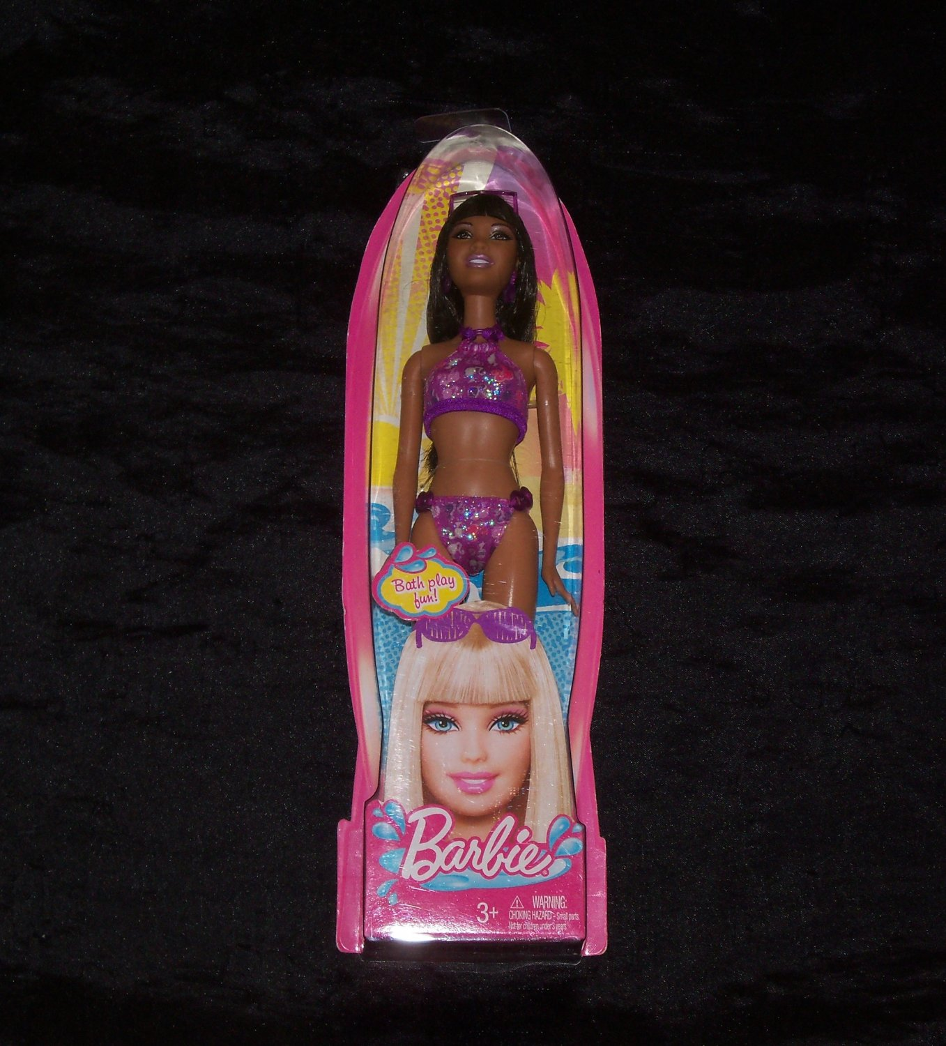 Barbie Beach Barbie Doll in Purple Swimwear