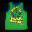Marvel Hulk Smash Sleeveless Shirt- Size 8