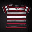 Boy's Black and Red Stripe Collared Shirt- Size Medium