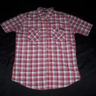 Enyce Red & White Plaid Button Shirt- Size Medium