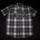 Enyce Black & White Plaid Button Shirt- Size Medium