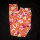 Masoi Orange Flowery Pants- Size 7