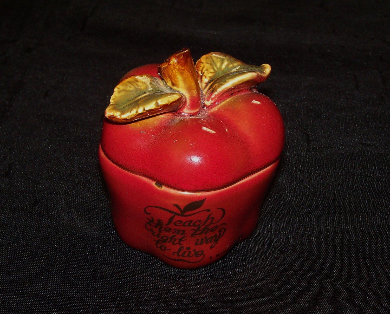 Teach Like Jesus Red Apple Figurine