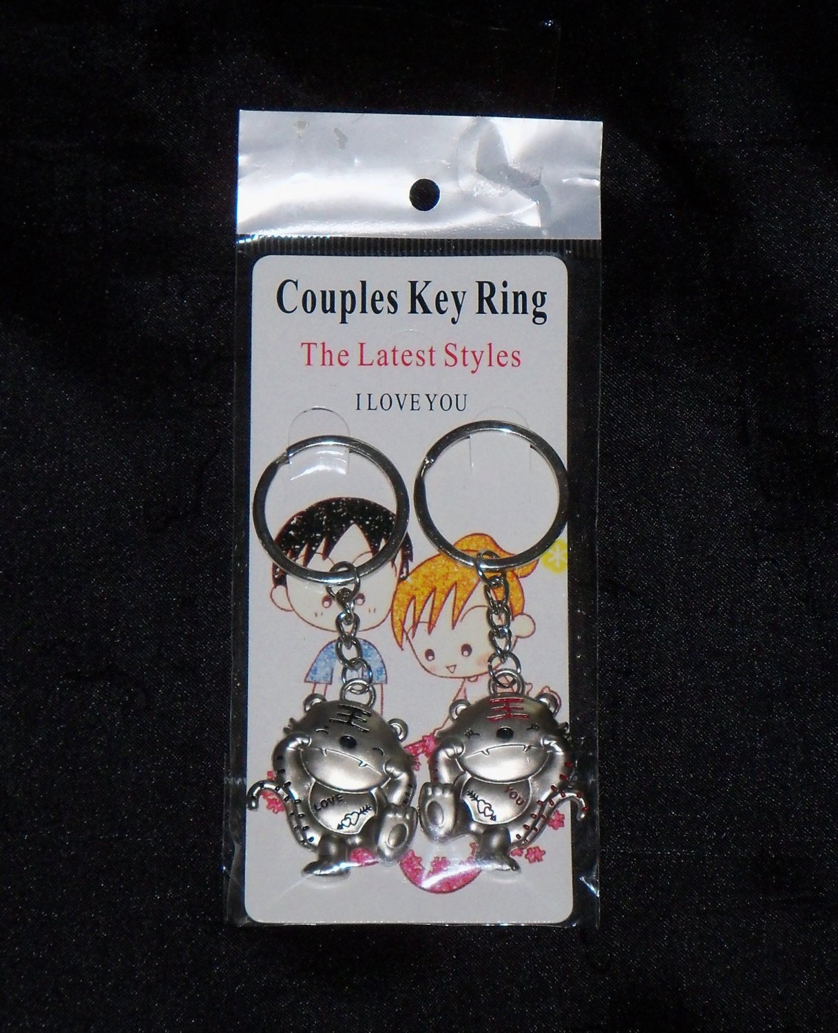 Love Tigers Keychain for Couples