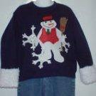 Custom Appliqued Snowman  shirt