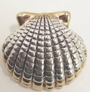 Shell Slide Pin Brooch Fashion Jewelry