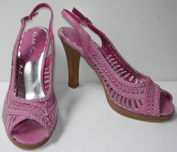 Charlotte Russe Dark Pink Sling Back Size 10