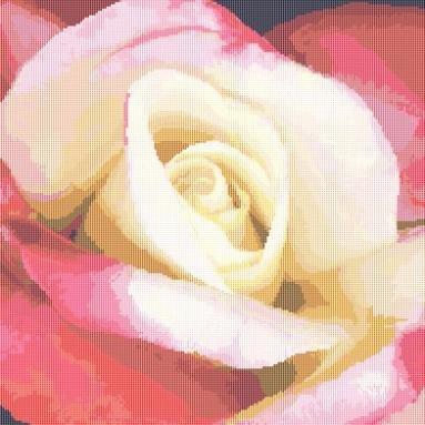 Single Rose Countd Cross Stitch Pattern