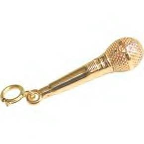 Jeffrey David 14k Gold Microphone Pendant/Charm