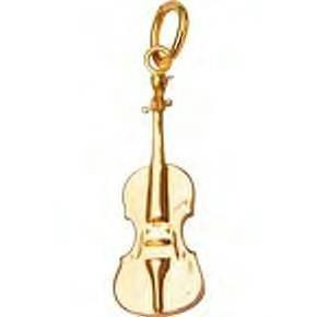 Jeffrey David 14k Gold Violin Pendant
