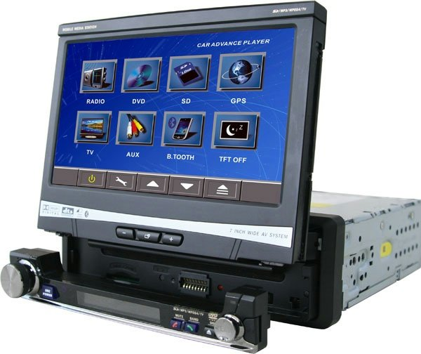 """JE-768BT 7"""" Car DVD Player with OSD Touch Screen"""