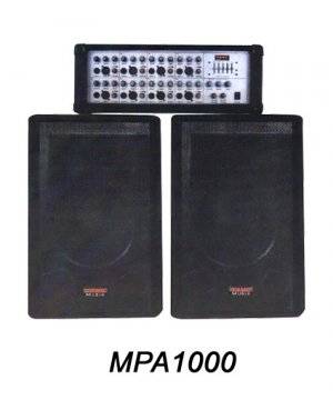 MPA1000  8 Ch powered mixer with digital delay